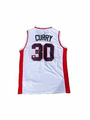 Stephen Curry Davidson Wildcats (Home White) Signed Jersey Jsa