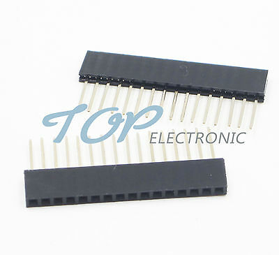 10PCS 16 Pin 1x16P 2.54mm Long Leg 11mm Single Row Female Straight Header Pin
