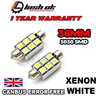*vw Caddy Led Number Plate Led Bulbs 2 36Mm 6 Led Smd Transporter Mk5 Golf Polo