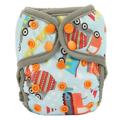 1 Crane NEWBORN Cloth Diaper Cover Waterproof Baby Nappy Double Gusset 8-10lbs