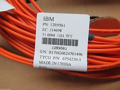 NEW IBM Tyco 30m (101ft) Duplex LC-LC Fiber Optic Cable 50/125 12R9561 6754230-5