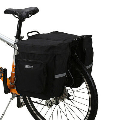 MTB Bike Bicycle Cycling Rear Back Seat Double Panniers Bags Trunk Rack Pouch