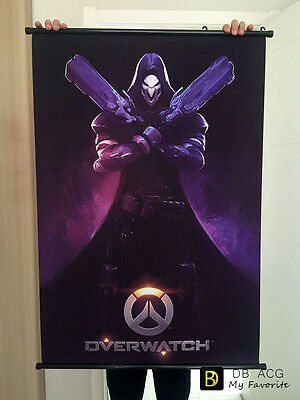 Overwatch Reaper Home Decor Poster Wall Scroll Painting  60cm*90cm