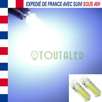 2X Ampoule Lampe 12V T10 W5W 2 Led Cob Blanc Froid Xenon Plafonnier  Tuning