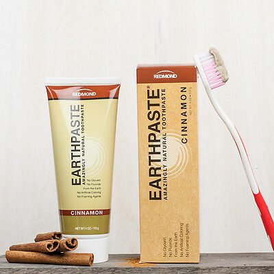 EARTHPASTE - REDMOND Clay Toothpaste with CINNAMON EO - 100% Natural [113g]