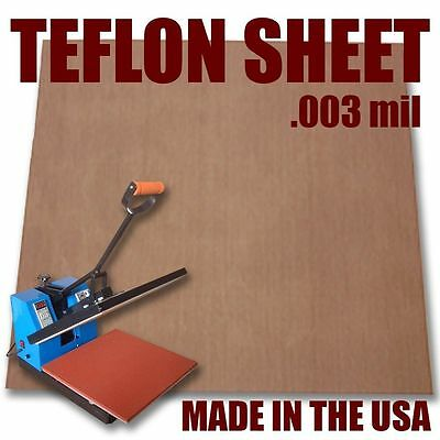 """Teflon Cover Sheet 16""""X16"""" 3mm for Transfer Paper Iron-On and Heat Press :)"""