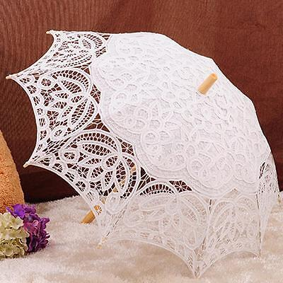 Vintage Lace Parasol Bride Bridesmaid Wedding Umbrella Beige Photography