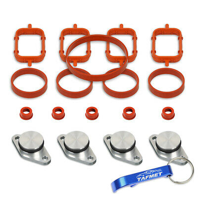 4 x 22 mm Swirl Flap Backup Ring Removal Blanks and Manifold Gaskets for BMW M47