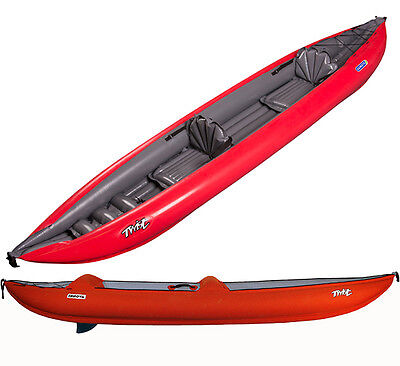 New 2016 Innova Double Twist II LN 3PSI Inflatable Tandem Kayak for 1-2 Paddlers