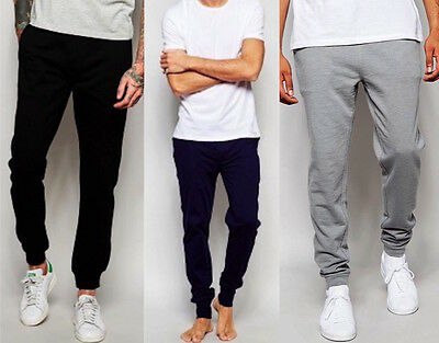 New Mens Slim Fit Tracksuit Bottoms Skinny Jogging Joggers Sweat Pants Trousers