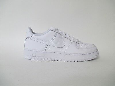 Nike Air Force 1 Low All White GS Grade School Sz 6 314192-117