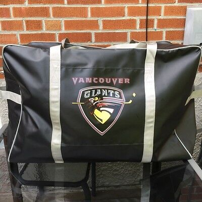 New Team Issued Vancouver Giants WHL Pro Stock Hockey Player Gear Equipment Bag