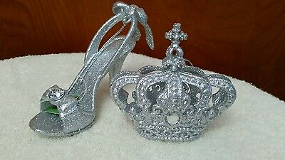 Silver  shoe /Crown ornament  new from world  market *
