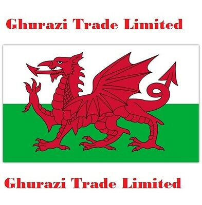 Wales Large Dragon Welsh  Flag 5X3 Ft New Packed Eyelets Fast Post