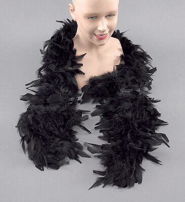 BLACK BOA HIGH QUALITY FEATHERS  BURLESQUE HEN NIGHT Halloween FANCY DRESS 2 MTR