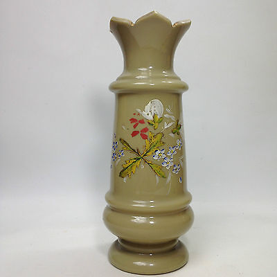 Victorian Antique Glass Hand Painted VASE