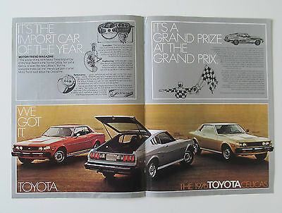 Vintage 1976 Toyota Celica Double Sided Centerfold Print Ad