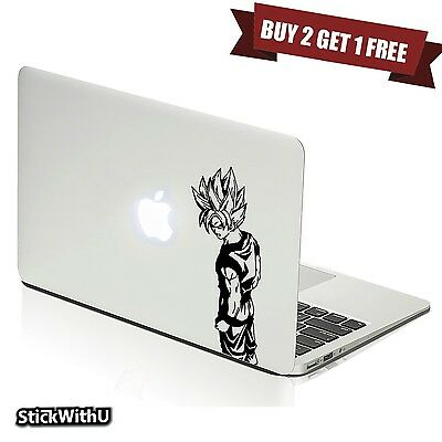 Macbook Air Pro Vinyl Skin Sticker Decal Dragon Ball Z Anime Goku Super m1007