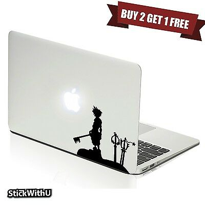 Macbook Air Pro Vinyl Skin Sticker Decal Kingdom Hearts Game Sora Keyblade m1016