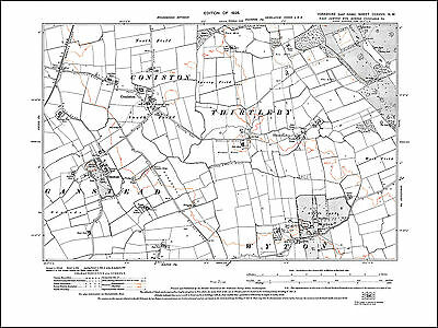 Wyton, Coniston, Ganstead, Thirtleby, old map Yorkshire 1928: 227NW repro