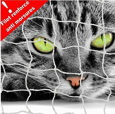 Filet De Protection Balcon Pour Chat 6 X 3 M- Renforcé Anti Morsures ! Aj3000