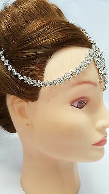 MATHA PATTI  HIJAB JEWELLERY HEAD DECORATION HEAD TIKKA INDIAN stone Jewellery D