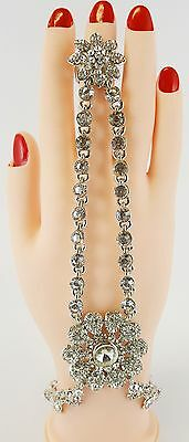 Double Stoned Chain  Hand Bracelet Hand Panja Stone Panja - ( Left/right Hand) D