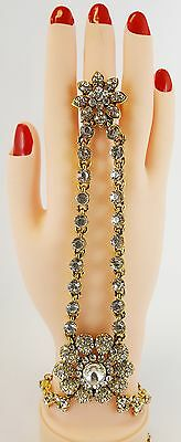Double chain Hand Chain Hand Panja Hand Chain Bracelet Stone Panja - ( Left/righ