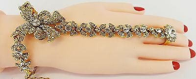 Hand Panja Indian Jewellery bollywood Hand Chain party wear Bracelet/ Stone Panj