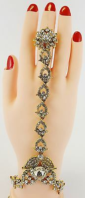 Hand Panja Indian Jewellery Bollywood Hand Chain Bracelet stone Panja (Left/righ