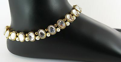 Anklet PAYAL diamante indian jewellery bollywood party wear ankel chain D.NO: P1