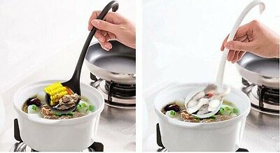 Design Creative Tools Black/White Soup Loch Ladle Kitchen Spoon Swan Special