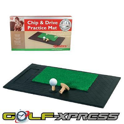 Masters Golf - Chip & Drive Practice Mat With Extra Tee