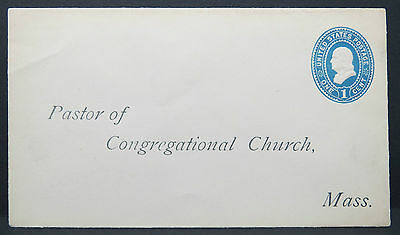 US Stationery Pastor of Congregational Church 1c Post Ganzsache Brief (Lot 7902