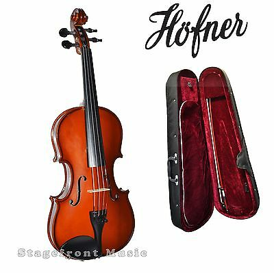 HOFNER STUDENT 1/16 size VIOLIN STAINED HARDWOOD HV040/16  w/accessories-NEW