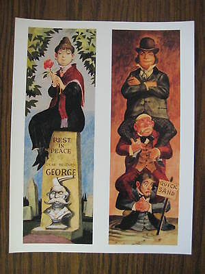 """Disney Haunted Mansion stretching room 8.5"""" x 11"""" Poster Part 3 & 4"""
