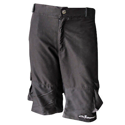 2-in-1 Baggy MTB Mountain Bike Shy Shorts w/ Inner Removable Padding and Pockets