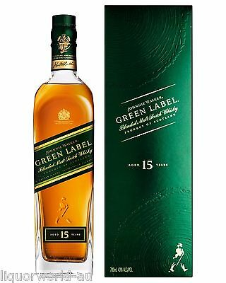 Johnnie Walker Green Label 15 Year Old Blended Malt Scotch Whisky 700ml