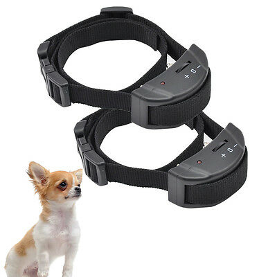Petrainer 2 x Electric Anti Barking No Barking Collar Dog Training Shock Collar