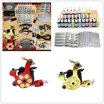Professional Complete Tattoo Gun Kit Machine Set Komplett Tattoo Maschine Kit