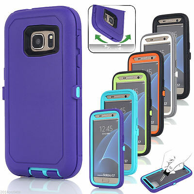Hybrid Rugged Shockproof Dirt proof Rubber Full Case Cover For Samsung Galaxy S7