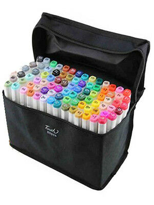 80 Color SET TOUCHNEW 6 Alcohol Graphic Art Twin Tip Pen Marker Animation