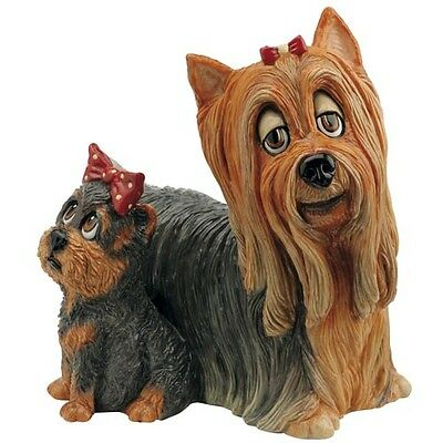 Pets With Personality 5504 Yorkie And Pup Collectable Ornaments