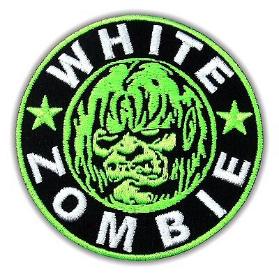 White Zombie Heavy Metal Rock Music Band Embroidered Iron On Patch Alternative