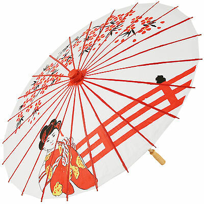 Chinese Paper and Bamboo Parasol - Geisha