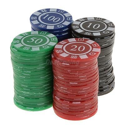 Set of 80 Easy Stacking Plastic Mini Playing Poker Chips Casino Game Tokens