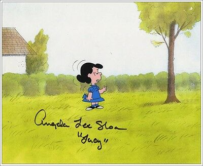 Peanuts SIGNED Lucy Van Pelt Hand-Painted Production Animation Cel w/COA