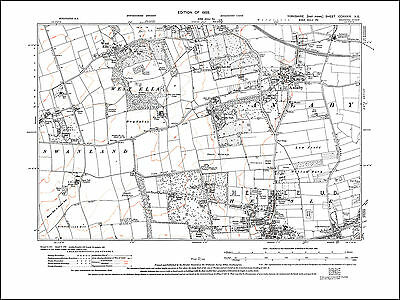 Anlaby, Hessle north, West Ella, old map Yorkshire 1929: 239NE repro