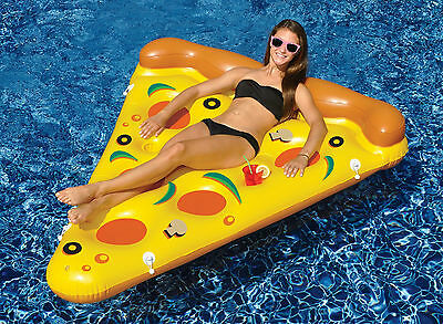 Swimline  Giant Inflatable 6' By 5'  Pizza Slice Swimming Pool Float Raft