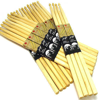 12 Pair Drum Sticks High Quality Maple Wood Tip Drumsticks 5B Percussion Sticks